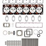 TrackTech Complete Top End Cylinder Head Gasket / Studs Service Kit for 89-98 5.9L Cummins 12V