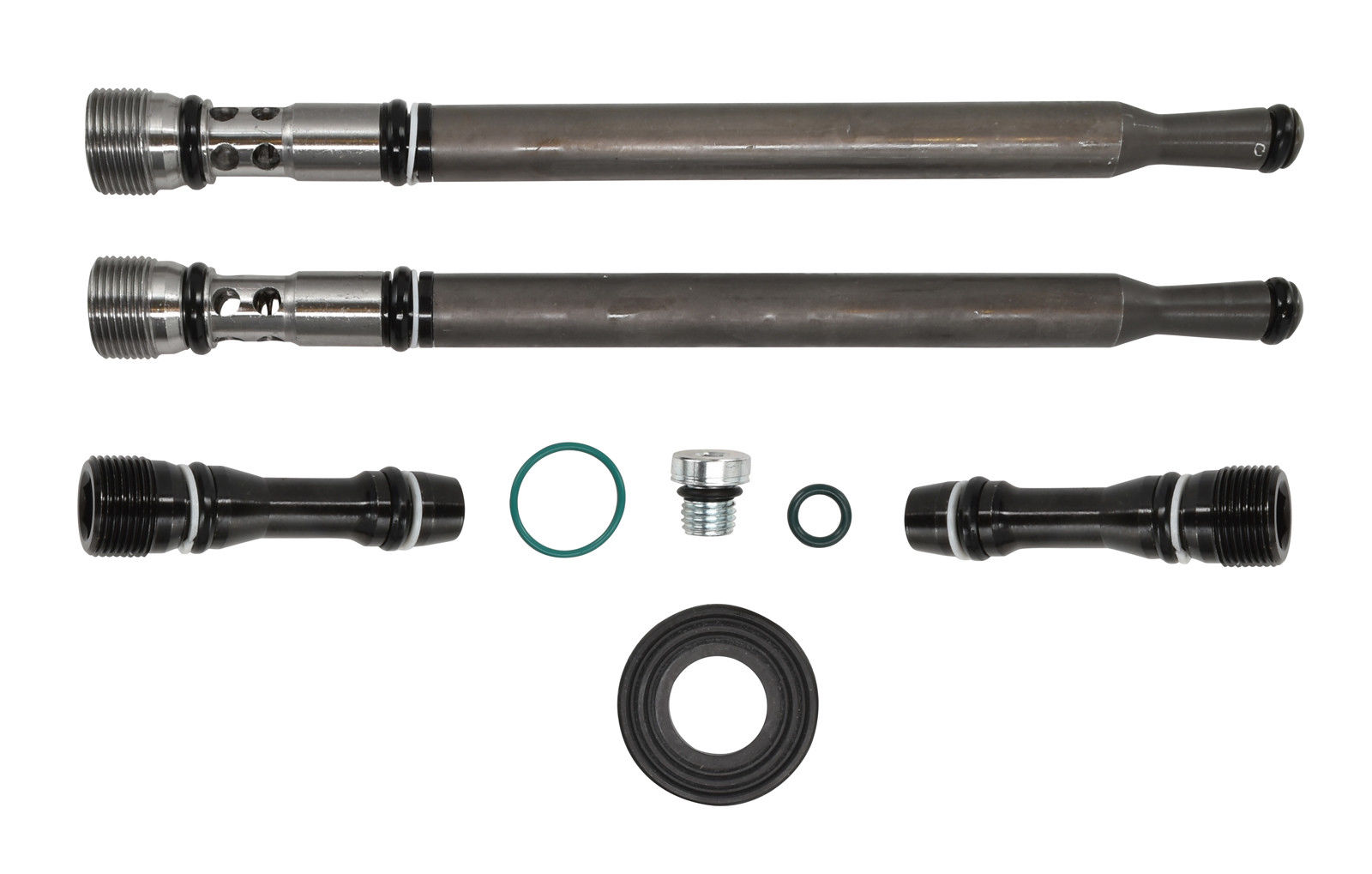 TrackTech Updated Engine Oil Stand Pipe + Dummy Plug Kit for 04-10 6.0L Powerstroke