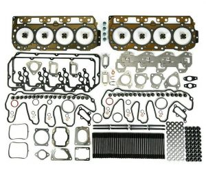 TrackTech Complete Top End Cylinder Head Gasket / Studs Service Kit For 07.5-10 Duramax LMM