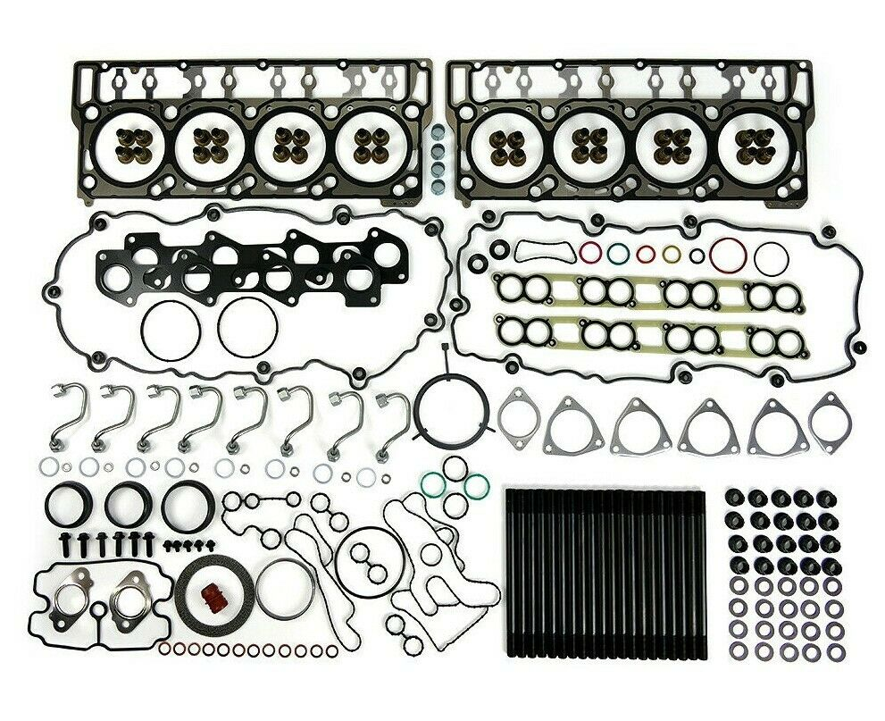 TrackTech Complete Top End Cylinder Head Gasket / Studs Service Kit for 08-10 6.4L Powerstroke