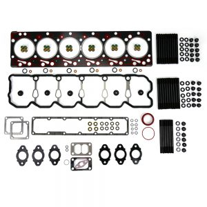 TrackTech Complete Top End Cylinder Head Gasket / Studs Service Kit for 98.5-02 5.9L Cummins 24V